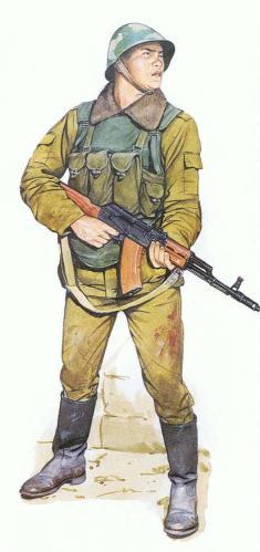 Soviet motor rifle, Afganistán, invierno de 1986.