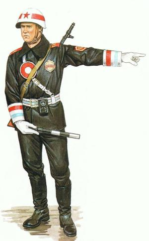 Policía militar Soviético, 1986.