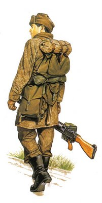 Soldado Checoslovaco, Infantería motorizada, con uniforme de invierno.