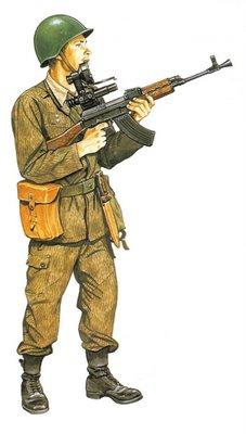 Soldado Checoslovaco, Infantería motorizada, con uniforme de verano.