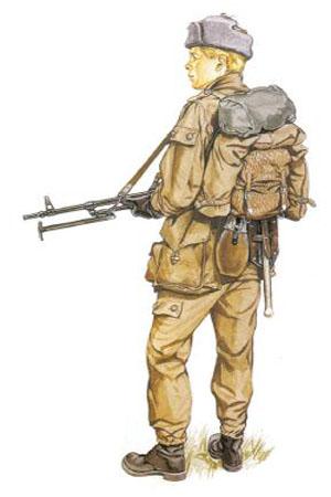 Soldado de Infantería Motorizada de la RDA (Rep. Democrática de Alemania).