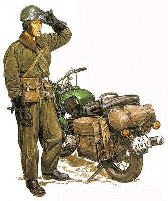 Soldado Motociclista de la RDA (Rep. Democrática de Alemania).