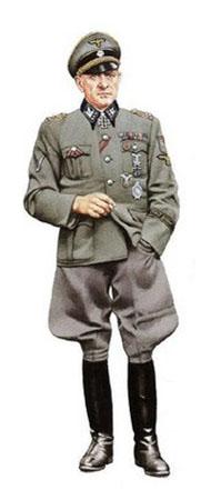 SS-Obstgruf. u. GenObst. der Waffen SS, Josef Dietrich, Francia, Agosto de 1944.