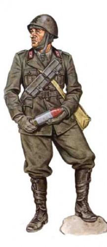 Soldados, Uniformes y Escenas de la Segunda Guerra Mundial (Dibujos y Pinturas) Artillero-59-reg-de-artilleria-division-cagliari-1940-e1301435898488