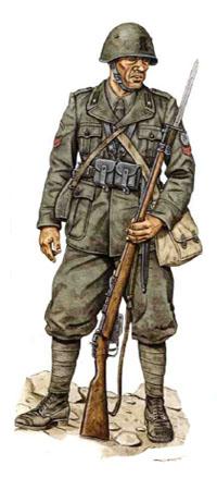Soldados, Uniformes y Escenas de la Segunda Guerra Mundial (Dibujos y Pinturas) Caporal-31-regimiento-de-infanteria-division-de-infanteria-siena-grecia-1940-1941