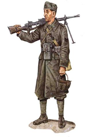 Caporal, 89 Regimiento de Infantería, División de Infantería Cosseria, 1940.