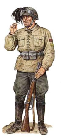 Sargento, 3er Regimiento Bersaglieri, 3ra División Principe Amedeo Duca d'Aosta, Yugoslavia 1941.