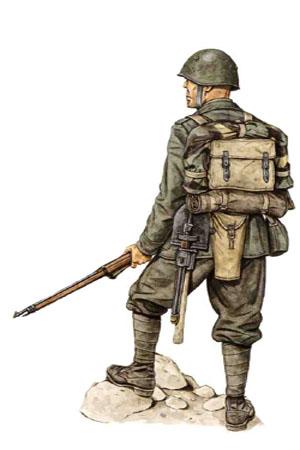 Soldado, 77 Regimiento de Infantería, División de Infantería Lupi di Toscana, Grecia 1941-1942.