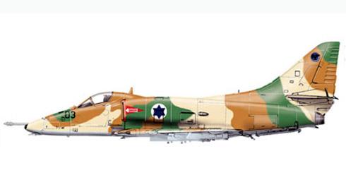 A-4 H Skyhawk, 109º IDF-AF, Israel, Mayo de 1970.
