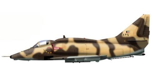 A-4 Skyhawk KU, Kuwait Air Force, Guerra del Golfo, 1990.