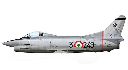 Aeritalia Fiat G.91 R, 3ª Brigada de Caza, Aeronautica Militare Italiana, 1965.