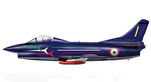 Aeritalia Fiat G.91 R, Grupo Adiestramiento Acrobático ''Frecce Tricolori'', 1981.