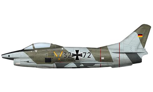 Aeritalia Fiat G.91R-3, Luftwaffe, Alemania, 1987.