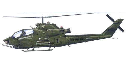 AH-1 F COBRA, 3er. Escuadrón, 17º de Caballería, 10º Brigada de Aviación Blackjacks, Somalia, 1972.