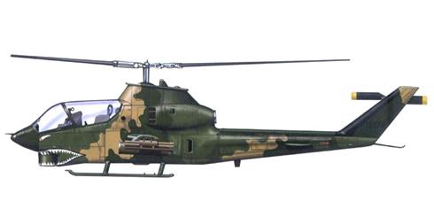 AH-1 G COBRA, de la USAF, Sudeste Asiático, 1972.