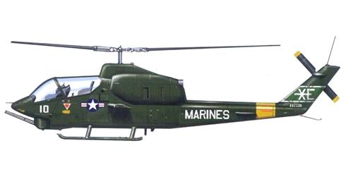AH-1 J COBRA, 5º Escuadrón de USMC (VX-5), 1973.