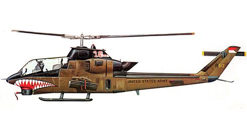 Bell AH-1 G COBRA, 4º Regimiento de Caballeríat, US Army, Hue-Phu,1972.