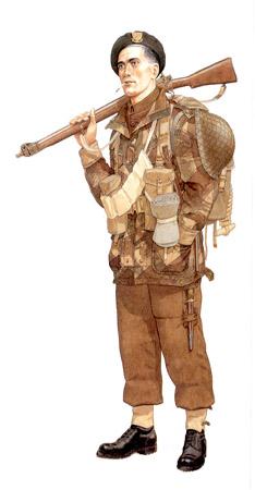 Soldados, Uniformes y Escenas de la Segunda Guerra Mundial (Dibujos y Pinturas) Comando-marino-fusilero-walcheren-noviembre-de-1944