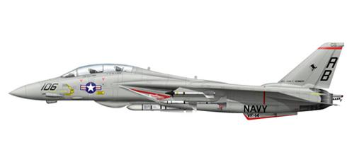 Grumman F-14 A Tomcat, VF-14 'Top Hatters', USS John F. Kennedy, 1979.