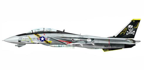 Grumman F-14 A Tomcat, VF-84 'Jolly Rogers', USS. Nimitz, 1979.
