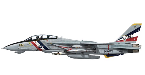 Grumman F-14 D Tomcat, VF-02 'Bounty Hunters', USS. Enterprise', 2003.