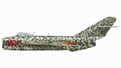 Kikoyan-Gurevich MIG-17 Fresco, Fuerza Aérea China, 1958.