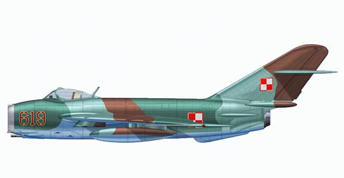 MIG-17 Fresco 'LIM-6' versión Polaca, Fuerza Aérea Polaca, 1970.