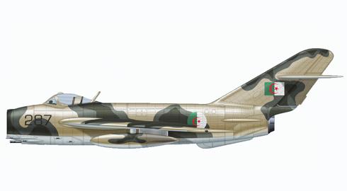 Mikoyan-Gurevich MIG-17 Fresco, Algerian Air Force, 1970.