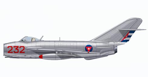 Mikoyan-Gurevich MIG-17 Fresco, Defensa Aérea Revolucionaria de Cuba, 1969.