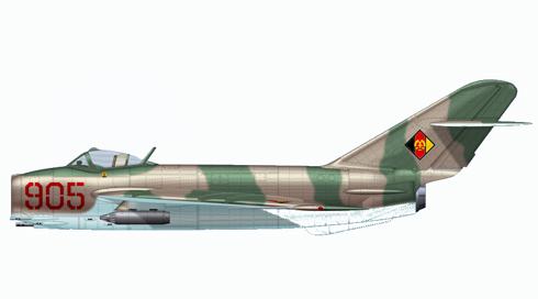 Mikoyan-Gurevich MIG-17 Fresco, Fuerza Aéra de la RDA, 1971.