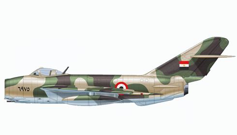 Mikoyan-Gurevich MIG-17 Fresco, Fuerza Aérea Egipcia, Guerra de los 6 días, 1967.