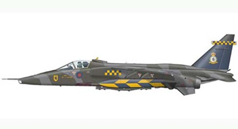 Sepecat Jaguar A Gr.Mk.1, 54º Squadron, Royal Air Force, Cotishall Base, 1990.