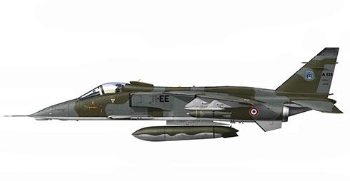 Sepecat Jaguar E, Escuadrón de Combate 3-11 ''Corse'', Armée de l'Air, Chad, 1983.