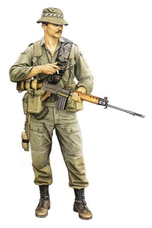 Soldado del 6º Real Regimiento Australiano, Vietnam, 1969.