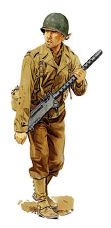Soldados, Uniformes y Escenas de la Segunda Guerra Mundial (Dibujos y Pinturas) Soldado-infanteria-blindada-estados-unidos-19452