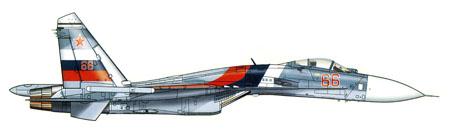 Sukhoi SU-27 FLANKER B, del 760º IISAP, Rusia.