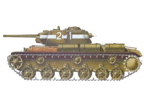 tanque pesado KV-1S, Berlín, Mayo de 1945.