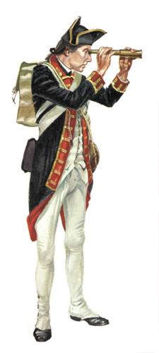 Artillero, Regimiento de artillería, 1779.