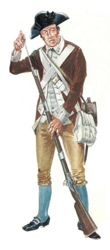 Cabo, 3er. Batallón Pennsylvania, 1776.