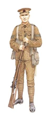 Cabo, Fusileros Reina Victoria, 1915.