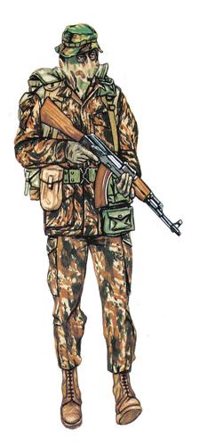 Capitán, 32 Batallón, sección de reconocimiento, 1983.