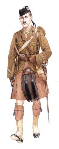 Capitán, London Scottish, 1914-1915.