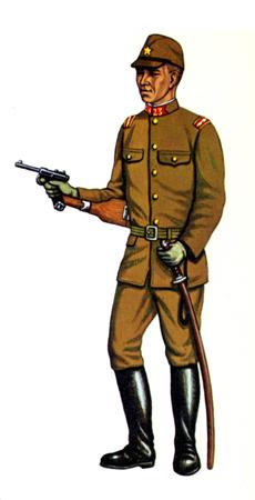 Chü-i (Teniente de 1ª), Cuerpo de Infantería, China, 1938.
