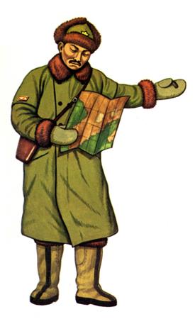Chüsa (Teniente Coronel) con Uniforme de Invierno, 1938.