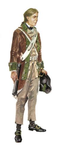 Flautista, Milicia de Virginia, 1778.