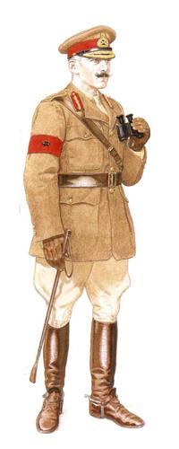 General de División, C.E. Pereira, GOC 2ª División, La Somme, Francia, 1916.
