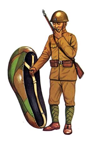 Gochö (Cabo) de Infantería con uniforme de transito, 1938.
