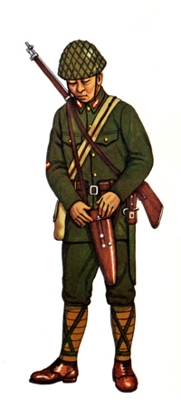 Gochö (Cabo) equipo ametralladora, 1941.