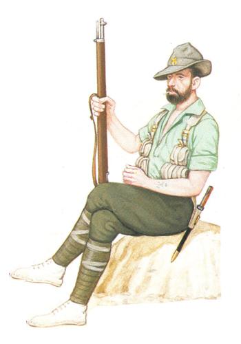 Legionario, 1ª Bandera de la Legión, 1921-1927.