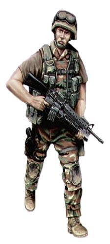 Soldado USA, Cuerpo de Marines, Irak, 1991.